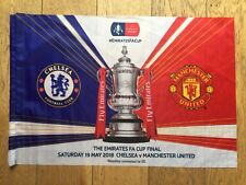 2018 OFFICIAL WEMBLEY FA CUP FINAL CHELSEA V MANCHESTER UNITED FOOTBALL FLAG NEW