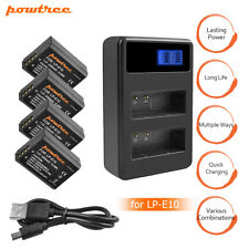 Powtree LP-E10 Battery and Charger For Canon Rebel T3 T5 T6 EOS 1100D 1300D MP