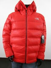 Mens TNF The North Face Summit L6 Down Belay Parka Warm Climbing Jacket - Red