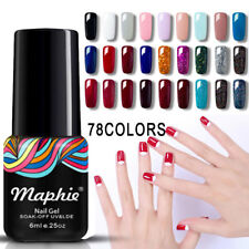 Maphie 78 Color Nail Gel Polish Soak Off UV Hot Fashion Art DIY Gel Varnish 6ML