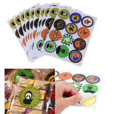10 Sheets(120 Pcs) Halloween Stickers Labels Cookie Bag Seal Birthday Party Tool