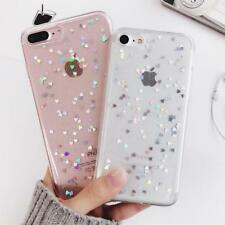 Bling Glitter Case Back Cover Love Heart Soft Silicone Phone Cases for iPhone X