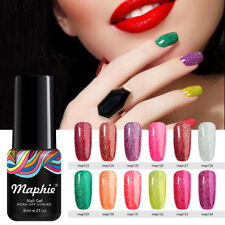 Maphie 6ml Nail Gel Polish Soak Off UV LED Color Neon Glitter Salon Gel Varnish