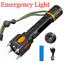 50000LM LED Tactical Flashlight Selfdefense Camping Hunting Hiking Light Torch