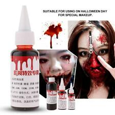 Halloween Fake Blood Vampire Zombie Makeup Accessory Cosplay Props 30/50/100ml