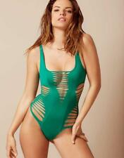 Nuovo Agent Provocateur Dakotta Cut-Out Costume Intero Verde 3 4 M L Raro
