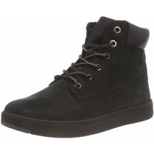 Timberland Davis Square 6 Inch Boot Black Nubuck Junior Ankle Boots