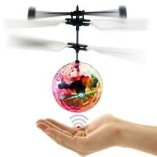 Infrared Induction Flash Flying Ball Colorful LED Disco RC Helicopter Toy  ZH