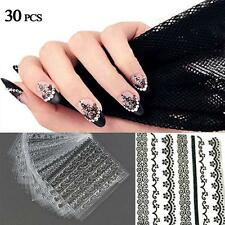 30pcs 3D Nail Art Manicure Tips Stickers Decals DIY Flower Design Decoration ZH