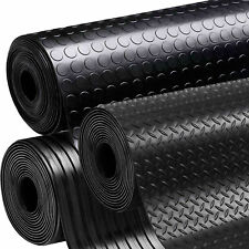 Rubber Flooring Garage Sheeting Matting Rolls 1.2M And 1.5M Wide and 3MM Thick