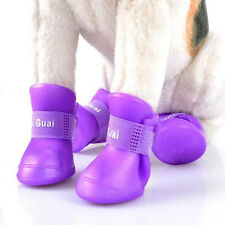 Pet Dog Cute Waterproof Boots Protective Rubber Rain Shoes Candy Color Booties
