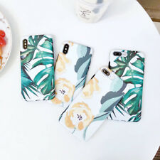 Banana Leaf Silicone TPU Phone Case Cover For iPhone XS Max XR X 8 7 6/6S Plus