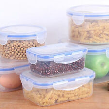 3 Size/set Stackable Nesting Food Storage Containers Clear Lid Plastic Lunch Box