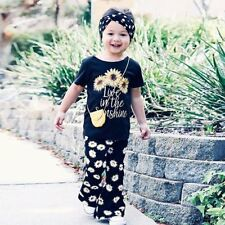 Toddler Kids Baby Girls T-shirt Tops+Floral Pants Dress Outfits Clothes 2PCS Set