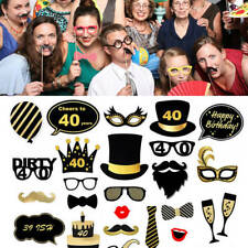 35pcs Happy Birthday Photo Booth Props Photography Party Decoration Selfie Kit