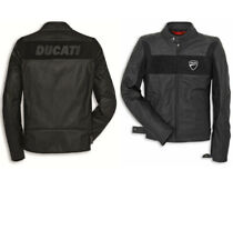 leather jacket for men ducati Real motorcycle biker cafe racer retro top