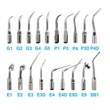 15 Type Dental Fit EMS Woodpecker G P E Ultrasonic Scaler Scaling Endo Perio Tip