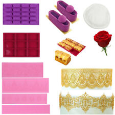 Different Dessert Fondant Chocolate Candy Molds  Cookie Moulds Cake Bread Pan