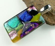 44 pendant options: With cord, in gift box, genuine dichroic glass pendant