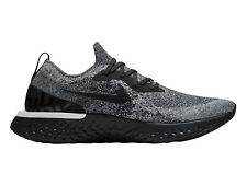 Mens Nike Epic React Flyknit Running Shoes Trainers True Black/Black/White