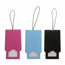 Leather Luggage Tags Labels Strap Name Address ID Suitcase Bag Baggage Travel