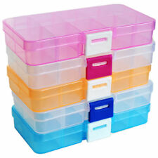 Transparent Jewelry Storage Box Ring Earring Drug Pill Beads Plastic Cases Sale