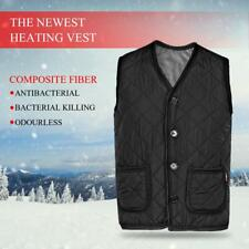 Electric Vest Heated Cloth Jacket USB Thermal Warm Heated Pad Winter Warmer GD