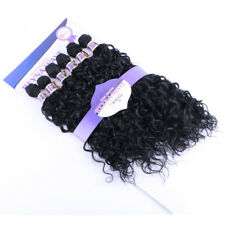 6pcs/pack Water Wave Hair Weaving Ombre Synthetic Curly Hair Extensions Weft
