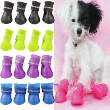 Cute Pet Dog Waterproof Boots Protective Rubber Rain Shoes Candy Color