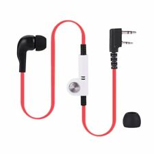 2 Pin PTT MIC Flat Cable Earpiece Headset for Walkie Talkie Radio
