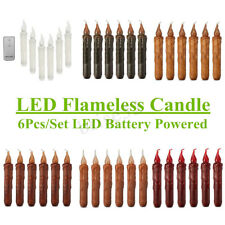 Flameless Wax Candle Battery Operated Taper LED Flickering Candle Wedding Party