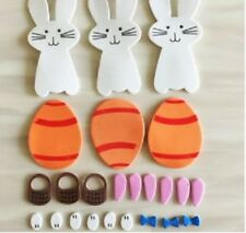 Easter Eggs Rabbits Foam Wall Stickers Children's Room Decorations Spring Crafts