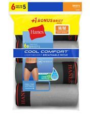 Hanes Men's FreshIQ™ Cool Comfort™ Breathable Mesh Sport Brief 6-Pack LB780Z