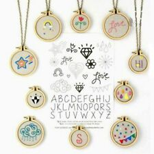 Mini DIY Wooden Cross Stitch Hoop Ring Embroidery Circle Sewing Kit Frame Craft