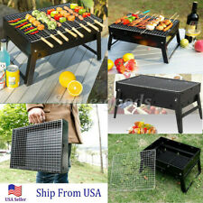Outdoor Folding Portable Charcoal BBQ Grill Camping Patio Backyard Cooker Smoker