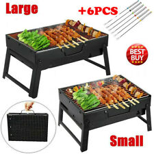 BBQ Barbecue Grill Folding Portable Charcoal Outdoor Camping Patio Stove Smoker
