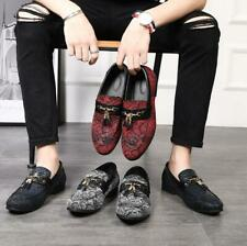 Mens Driving Moccasin Loafers Casual Tassel Slip On Leather Shoes Pointed Toe