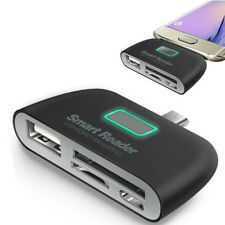 4 in 1 OTG/TF/SD Smart Type-C Card Reader Adapter Micro USB Charge Ports ODCFHFA