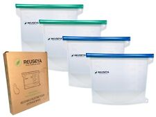 Reusable Silicone Food Storage Bags x4 | REUSEYA | Eco Friendly | Sustainable