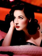 Dita Von Teese Cute Red lips Curls Bra Wall Print POSTER CA