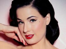 Cute Dita Von Teese Red lipstick Beauty spot Wall Print POSTER CA