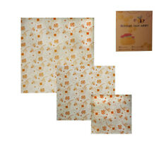 Beeswax Food Wraps Assorted 3 Pack Eco Friendly Reusable Plastic Storage GUO-0