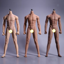 """1/6 Male Nude Body Figure Doll Model 12"""" Flexible Silicone Action Figures"""