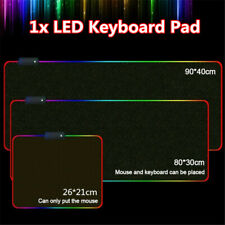 For PC Laptop Large RGB Colorful LED Lighting Gaming Mouse Mat Pad New