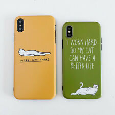 Funny Naughty Cat Silicone Phone Case Cover For iPhone 11 Pro X 8 7 6 XS XR Max