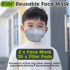 6x Kids Face Anti-dust bacteria Haze Mouth Muffle w/ 90pcs Filter Pads 3 Layers