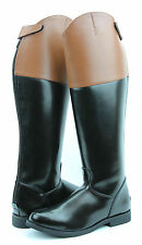 ROYAL MEN DRESS BOOTS SHOW RIDING BACK ZIPPER TAN CUFF