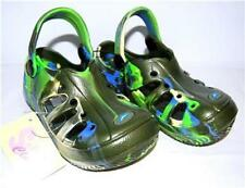 Boys Girls Camo Green Clogs Toddler Shoes 5 - 8 NEW