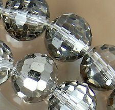 10x12mm Faceted Gray AB Crystal Rondelle Beads 36pcs