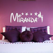 WALL STICKER PERSONALISED NAME FAIRY STAR GIRL BEDROOM